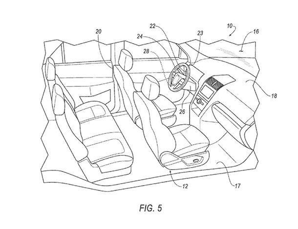Ford จดสิทธิบัตรพวงมาลัยและแป้นเหยียบแบบถอดได้ สำหรับใช้ในรถขับขี่อัตโนมัติ