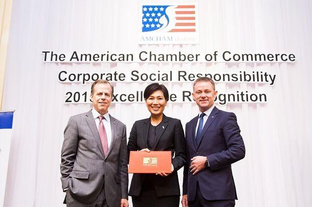 ฟอร์ด มอเตอร์ คัมปะนี ได้รับรางวัลองค์กรรับผิดชอบต่อสังคมดีเด่นและได้รับยกย่องให้เป็นพันธมิตรเชิงสร้างสรรค์ จากหอการค้าอเมริกันในประเทศไทย ประจำปี 2558