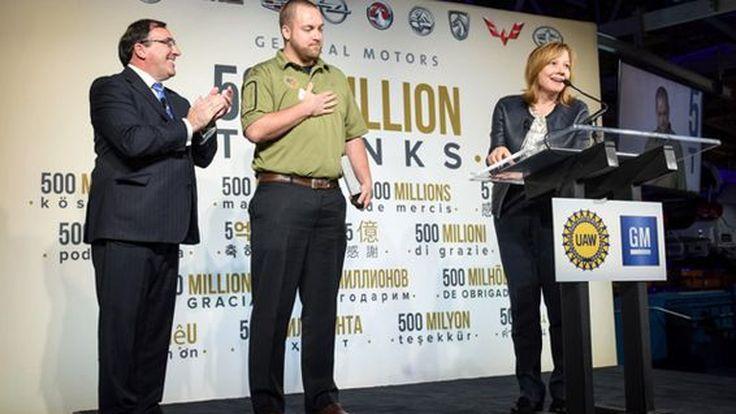 GM มอบรถ 5 คันให้ลูกค้าทั่วโลก ฉลองการผลิต 500 ล้านคัน