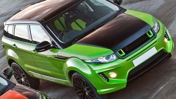 Range Rover Evoque RS250 สาดตัวถังสีเขียวเด่นกว่าใครโดย Kahn Design
