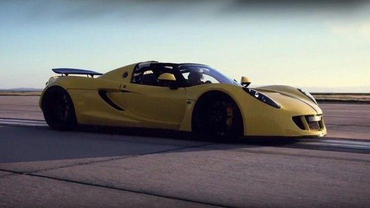 ทุบสถิติ !! Hennessey Venom GT Spyder รถยนต์เร็วที่สุดในโลกกับพิษสง 1,451 แรงม้า