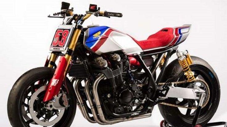 Honda CB1100TR Concept ราชาแห่งแฟลทแทร็คกับหมายเลขของนักแข่งในตำนาน