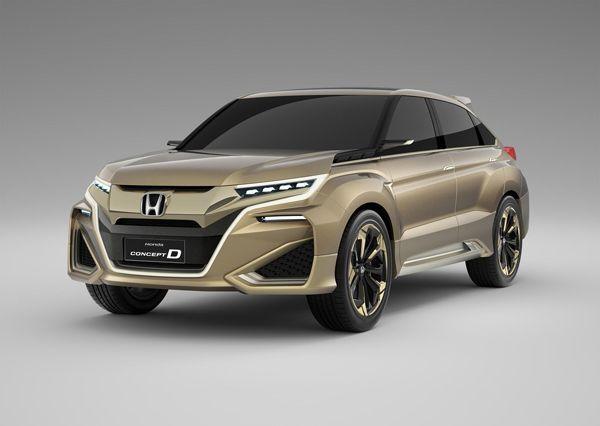 Honda Concept D อีกหนึ่งรถต้นแบบที่เน้นสันเหลี่ยม