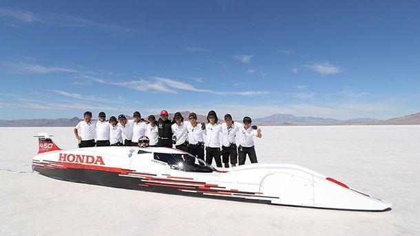 ชมโฉมหน้ารถ Honda สร้างสถิติความเร็วสูงสุดทะลุ 420 กม.ต่อชม.
