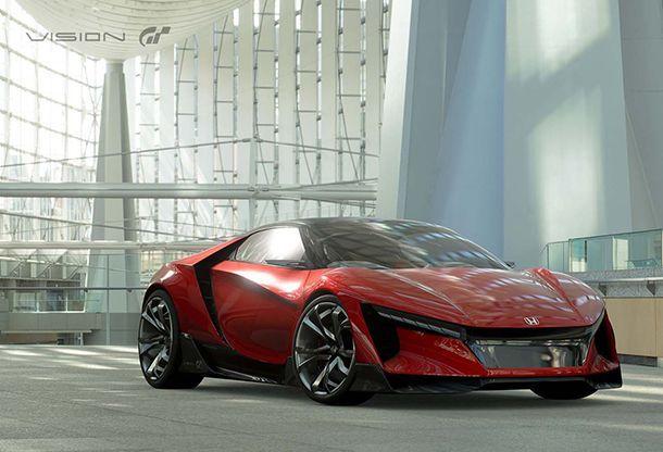 Honda เผยโฉม Sports Vision Gran Turismo รถต้นแบบหน้าตาล้ำ