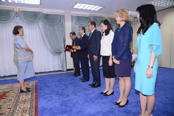กองทุนฮอนด้าเคียงข้างไทย ทูลเกล้าฯ ถวายเงิน 6 ล้านบาท สนับสนุนการดำเนินงาน โครงการแก้มลิงหนองน้ำพล จังหวัดลพบุรี