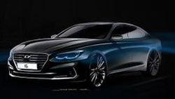 หรูเนี๊ยบ Hyundai เผยภาพสเก็ตช์ Azera มิดไซส์ซีดาน
