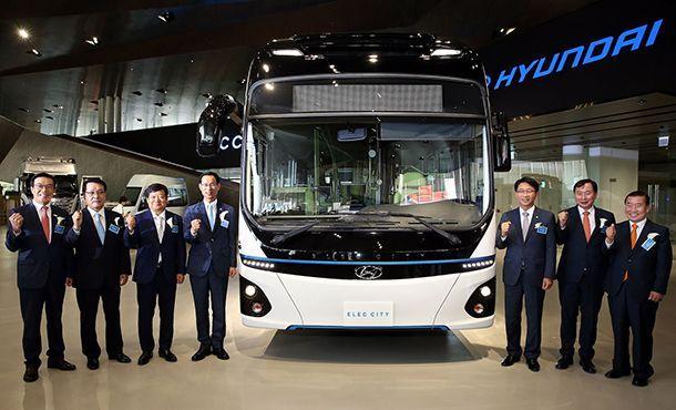Hyundai เปิดตัว Elec City รถบัสพลังงานไฟฟ้าวิ่งได้ไกลเกือบ 300 กม.