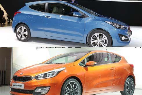 เทียบโฉมฝาแฝด Hyundai i30 3D หรือ Kia Pro_Cee'd รุ่นไหนสวยกว่ากัน