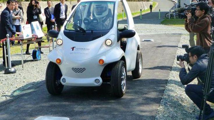 ทึ่ง! นักวิจัยญี่ปุ่นพัฒนารถไฟฟ้าที่ดึงพลังงานไฟจากพื้นถนน