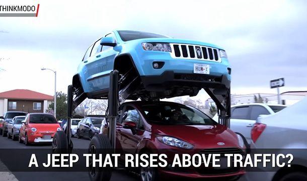 รถติดนักใช่ไหม? ชม Jeep Grand Cherokee ยกสูงข้ามผ่านฉลุย