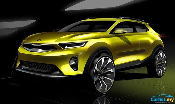"""Kia เผยภาพสเก็ตช์ """"Stonic"""" รถครอสโอเวอร์ขนาดเล็กรุ่นใหม่"""