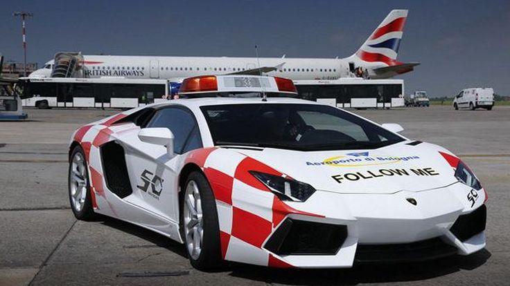 Lamborghini Aventador แปลงโฉมเป็นรถลาดตระเวนในสนามบินอิตาลี