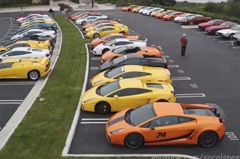 สมาชิกคลับ Lamborghini อเมริกา รวมกลุ่มอวดรถทั้งเก่าและใหม่ รวมมากกว่า 50 คัน