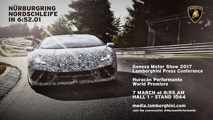 โหดสุดๆ Lamborghini Huracán Performante ทุบสถิติในสนามเนอร์เบิร์กริง