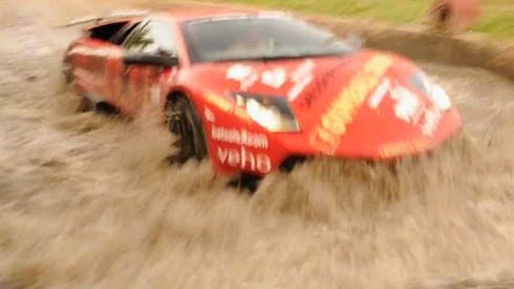 ไม่กลัวน้ำ(ขัง)! Lamborghini Murcielago LP670-4 SuperVeloce ลุยทุกสภาพถนน