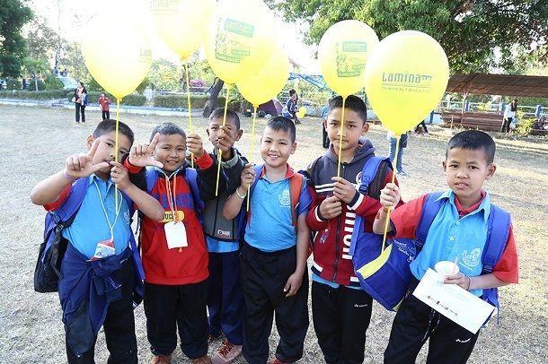 ลามิน่าสานฝันเด็กไทยได้เล่าเรียน ก่อสร้างและส่งมอบอาคารเรียนหลังใหม่ให้แก่โรงเรียนบ้านลือนาคำ