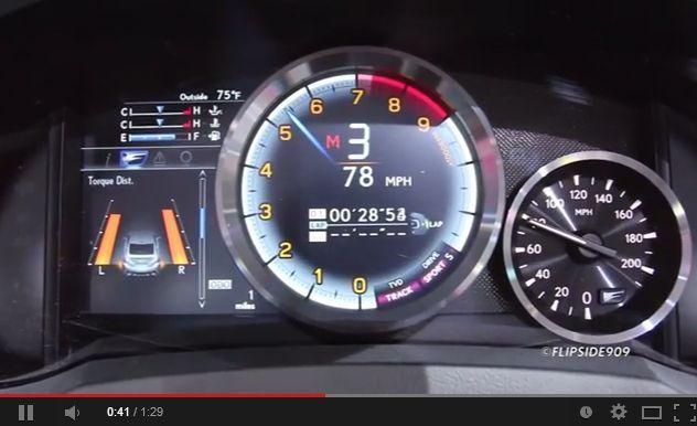 ล้ำไปไหน!? ชมมาตรวัดดิจิตอลสวยสะดุดตาของ Lexus RC F