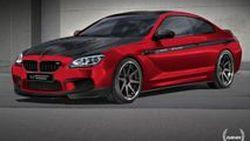 BMW M6 Coupe โมดิฟายด์แดงสลับดำโดย Manhart Racing