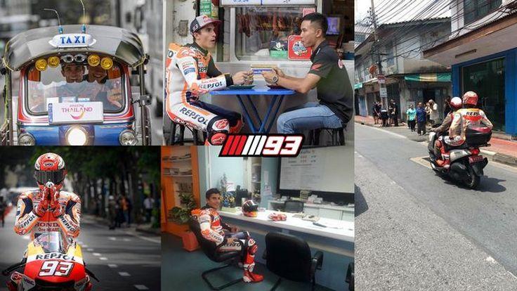 รถก็แรง เกมได้ไง ประมวลภาพของ Marc Marquez ขณะถ่ายทำคลิปโปรโมทการท่องเที่ยวประเทศไทย