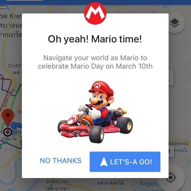 ลองกันรึยัง ? วิธีเปิดใช้งานให้ Mario Kart นำทางเราใน Google Maps