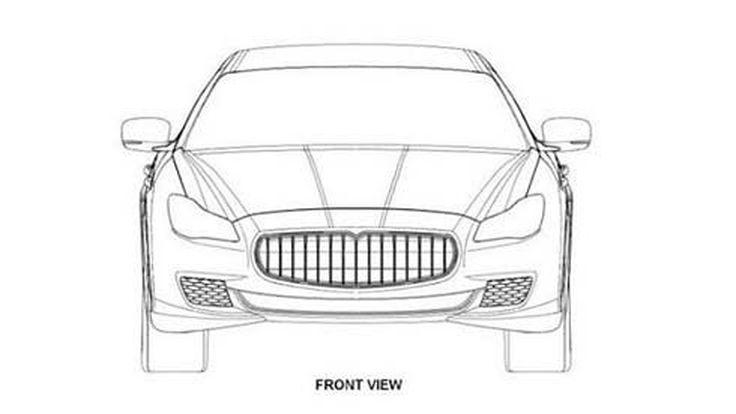 Maserati Quattroporte รุ่นปี 2014 เผยโฉมโครงร่าง ผ่านภาพสิทธิบัตร
