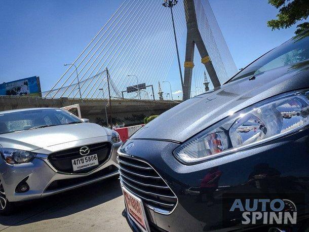"""เปิดหน้าชก Mazda 2 """"Skyactiv"""" ปะทะ Ford Fiesta """"Ecoboost"""""""