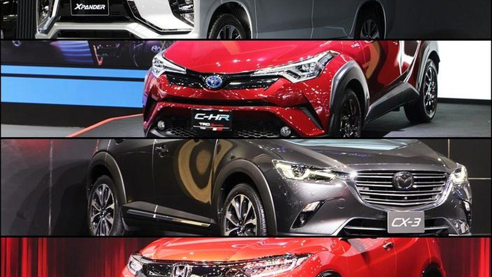 Mazda CX-3 vs Honda HR-V RS vs Toyota C-HR vs Mitsubishi Xpander ประชันคอมแพคครอสโอเวอร์ที่พร้อมใจกันเปิดตัว