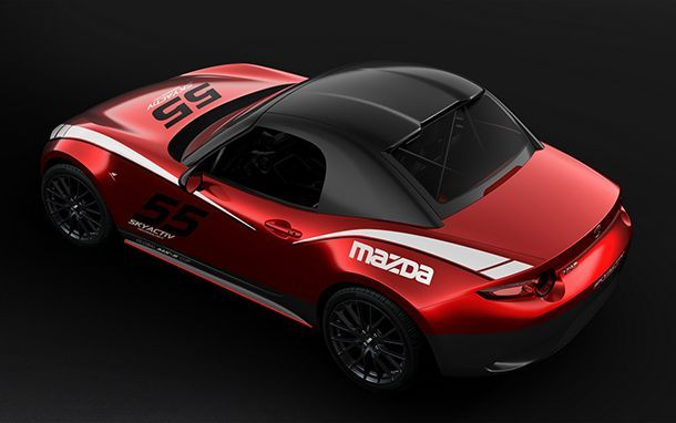 Mazda นำเสนอ MX-5 Cup หลังคาฮาร์ดท็อป แต่ใช้ได้ในสนามแข่งเท่านั้น