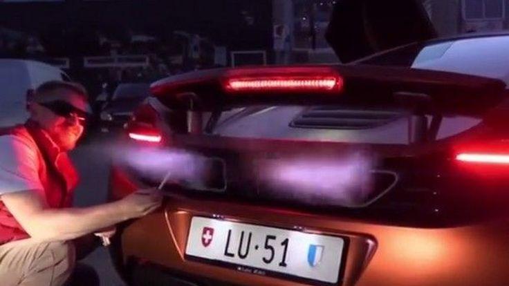 [ชมคลิป] วอนตาย !! กับการจุดบุหรี่ด้วย Black Fire จาก ไฟแช็คที่แพงที่สุดในโลกอย่าง McLaren 12C