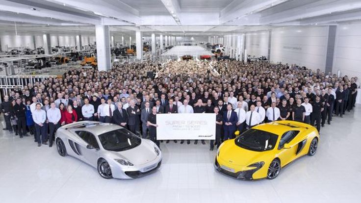 "McLaren ฉลองการผลิตซูเปอร์คาร์ ""Super Series"" ครบ 5,000 คัน"