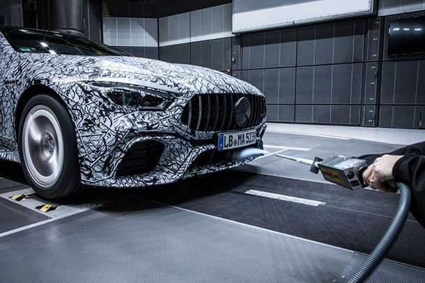 ชมความโค้งมน Mercedes-AMG GT4 ทดสอบในอุโมงค์ลมก่อนเปิดตัว