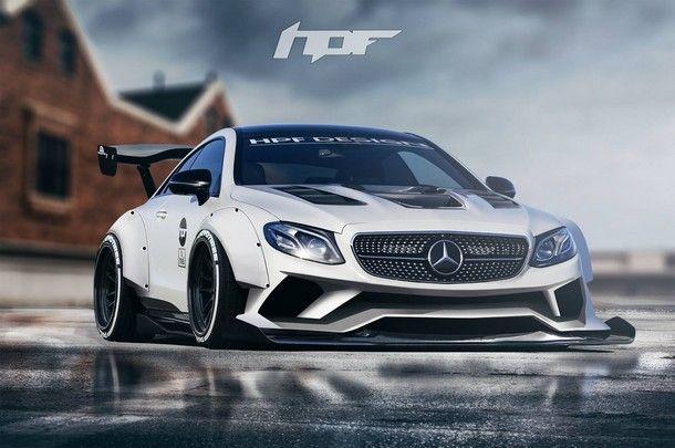 ชมภาพ Mercedes-Benz E-Class Coupe พร้อมชุดแต่ง Widebody แบบจัดเต็ม