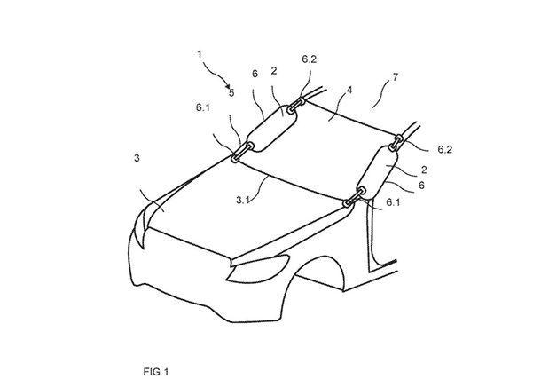Mercedes-Benz จดสิทธิบัตรถุงลมนิรภัยบนเสาหลังคาด้านนอก