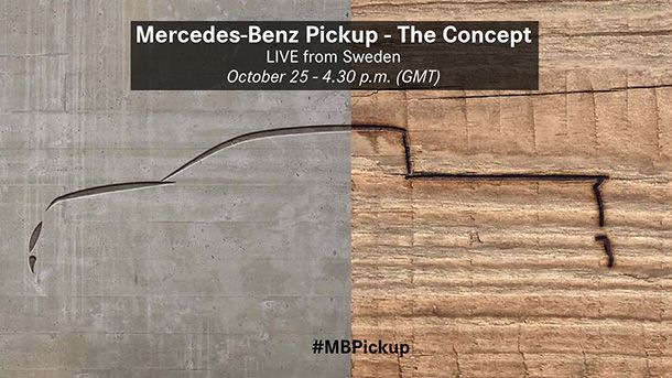 เผยรถกระบะ Mercedes-Benz ที่จะเปิดตัวสัปดาห์หน้ายังคงเป็นตัวต้นแบบ