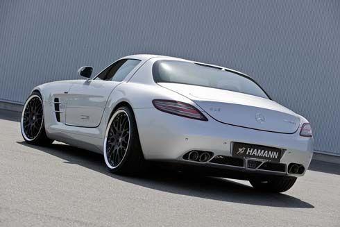 Mercedes-Benz SLS AMG โหลดเตี้ย 30 มม. ล้ออัลลอยใหม่ และท่อไอเสียสเตนเลสจาก Hamann