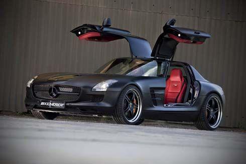 Mercedes-Benz SLS AMG Gullwing โดย Kicherer หุ้มฟอยล์ดำด้าน ไต่ระดับแตะ 620 แรงม้า