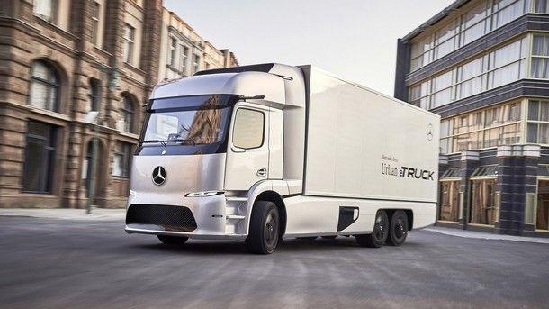 Mercedes Urban eTruck Concept คอนเซปต์รถบรรทุกพลังงานไฟฟ้าขนาดเล็ก ที่วิ่งได้ไกลถึง 200 กิโลเมตร