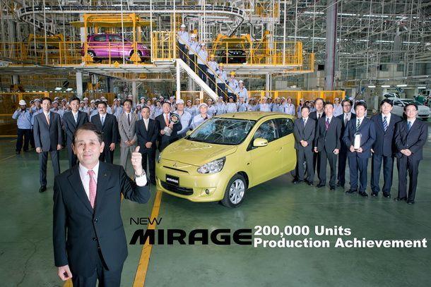 Mitsubishi รายงานยอดการผลิตรถ Mirage 2 ปีทะลุ 200,000 คัน