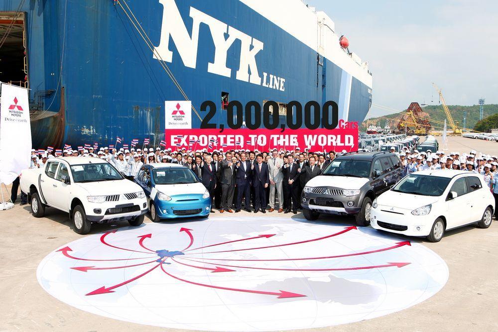 Mitsubishi ประกาศความสำเร็จในการส่งออกรถยนต์ที่ผลิตโดยฝีมือคนไทย ครบ 2 ล้านคัน เตรียมเสริมความแข็งแกร่งด้าน R&D เพื่อก้าวสู่ตลาด AEC