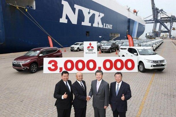 มิตซูบิชิ มอเตอร์สฯ ประกาศความสำเร็จ ด้วยยอดส่งออกรถยนต์ครบ 3 ล้านคัน ตอกย้ำคุณภาพฝีมือคนไทย