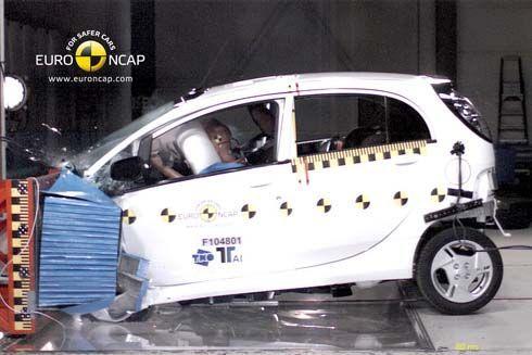 Mitsubishi i-Miev รถไฟฟ้าทั้งคันรุ่นแรกรับ 4 ดาว จากการทดสอบการชนจาก Euro NCAP
