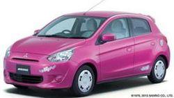 คาวาอี้! Mitsubishi Mirage เวอร์ชั่น Hello Kitty ทำตลาดแดนปลาดิบ
