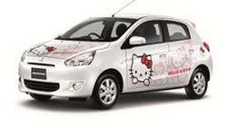 Mitsubishi Mirage Hello Kittyร่วมฉลองงาน 40 ปี ฮัลโหล คิตตี้