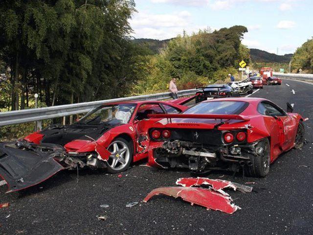 มหกรรมการชน ของ Ferrari ครั้งที่ยิ่งใหญ่ที่สุด