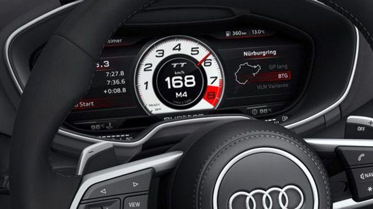 รถ Audi หลายรุ่นเตรียมใช้แผงหน้าปัดดิจิตอลแบบเดียวกับ TT ภายในปี 2015