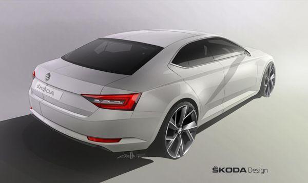 คราวนี้บั้นท้าย Skoda Superb ภาพทีเซอร์รถแฟล็กชิพรุ่นใหม่