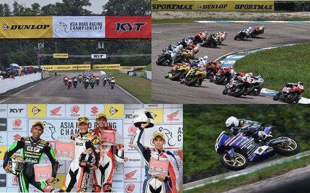ดันลอป สนับสนุน Asia Road Racing สนามที่ 1 ยะโฮร์เซอร์กิต ประเทศมาเลเซีย
