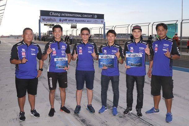 ทัพนักบิดยามาฮ่ากวาดโพเดี้ยม ศึกชิงแชมป์ประเทศไทย สนามที่ 2