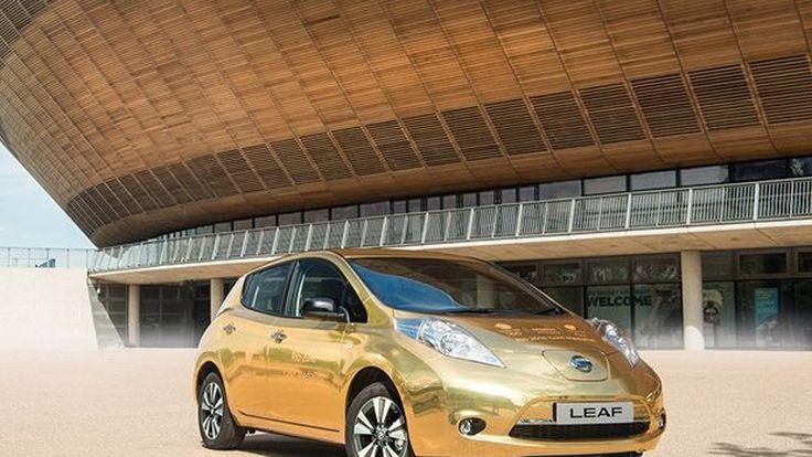 """Nissan มอบ """"Leaf"""" สีทองอร่ามให้นักกีฬาเมืองผู้ดีที่ได้เหรียญทอง"""